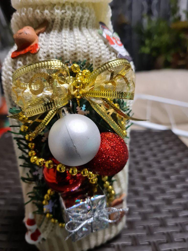 Коледен чорап за бутилка
